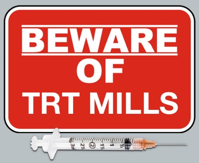 Beware of TRT mills caution sign.